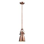 "Chadwick Collection 1-Light 14"" Retro Antique Copper Mini Pendant 66149-1"