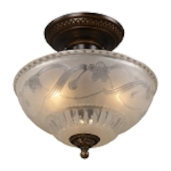 "Restoration Collection 3-Light 11"" Golden Bronze Wall Sconce with Antique Ivory Glass 08098-AGB"