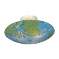 "Kidshine Collection 3-Light 17"" World Map Semi-Flush Mount 205-WM"