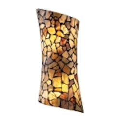 "Trego Collection 2-Light 14"" Wall Sconce with Multi-Colored Stone Shade 60016-2"