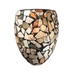 "Trego Collection 1-Light 10"" Wall Sconce with Multi-Colored Stone Shade 60019-1"