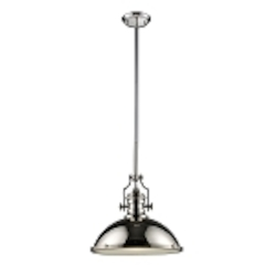 "Chadwick Collection 1-Light 17"" Industrial Polished Nickel Pendant 66118-1"