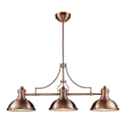 "Chadwick Collection 3-Light 47"" Industrial Antique Copper Island Light 66145-3"