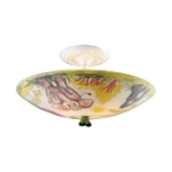 "Kidshine Collection 3-Light 17"" Safari Zoo Semi-Flush Mount 66405-3"