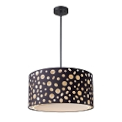 "Enchantment Collection 1-Light 16"" Pendant with Matte Black Drum Shade 68001-1"
