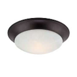 Designers Fountain LED Oil Rubbed Bronze Alabaster Glass Bowl Flush Mount - LED1101-34