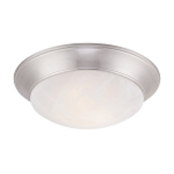 Designers Fountain LED Satin Platinum Alabaster Glass Bowl Flush Mount - LED1101-35