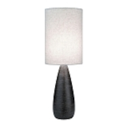 "Quatro Collection 1-Light 27"" Brushed Dark Bronze Table Lamp with Linen Shade LS-2999"