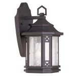 "Tahoe Collection 1-Light 7"" Bronze Outdoor Wall Lantern with Seeded Glass 2311-07"