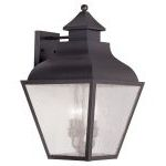 "Vernon Collection 3-Light 12"" Bronze Outdoor Wall Lantern with Seeded Glass 2454-07"