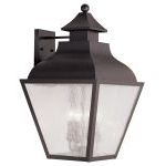 "Vernon Collection 4-Light 14"" Bronze Outdoor Wall Lantern with Seeded Glass 2457-07"