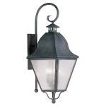 "Amwell Collection 4-Light 14"" Charcoal Outdoor Wall Lantern with Seeded Glass 2558-61"