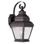 "Exeter Collection 1-Light 7"" Bronze Outdoor Wall Lantern with Clear Water Glass 2601-07"