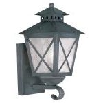 "Montgomery Collection 1-Light 7"" Charcoal Outdoor Wall Lantern with Seeded Glass 2670-61"
