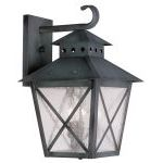 "Montgomery Collection 3-Light 11"" Charcoal Outdoor Wall Lantern with Seeded Glass 2672-61"