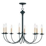 "Heritage Collection 8-Light 30"" Black Chandelier 4457-04"