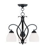 "Brookside Collection 3-Light 20"" Olde Bronze Convertible Chain Hang/Ceiling Mount with Hand Blown Satin White Glass 4773-67"