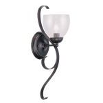 "Brookside Collection 1-Light 6"" Olde Bronze Wall Sconce with Hand Blown Clear Water Glass 4808-67"
