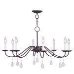 "Mercer Collection 8-Light 30"" Bronze Chandelier 4848-07"