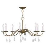"Mercer Collection 8-Light 30"" Antique Gold Leaf Chandelier 4848-48"
