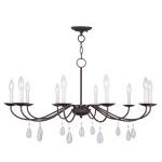 "Mercer Collection 10-Light 36"" Bronze Chandelier 4850-07"