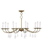 "Mercer Collection 10-Light 36"" Antique Gold Leaf Chandelier 4850-48"