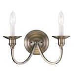 "Cranford Collection 2-Light 13"" Antique Brass Wall Sconce 5142-01"
