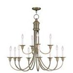 "Cranford Collection 12-Light 34"" Antique Brass Chandelier 5149-01"