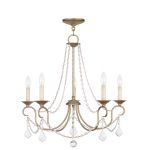 "Pennington Collection 5-Light 25"" Antique Silver Leaf Chandelier 6515-73"