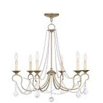 "Pennington Collection 6-Light 28"" Antique Silver Leaf Chandelier 6516-73"