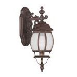 "Frontenac Collection 1-Light 7"" Imperial Bronze Outdoor Wall Lantern with Seeded Glass 7901-58"
