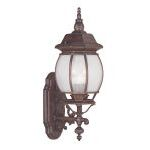 "Frontenac Collection 3-Light 8"" Imperial Bronze Outdoor Wall Lantern with Seeded Glass 7902-58"