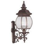 "Frontenac Collection 4-Light 11"" Imperial Bronze Outdoor Wall Lantern with Seeded Glass 7904-58"