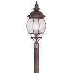 "Frontenac Collection 4-Light 12"" Imperial Bronze Outdoor Post Head with Seeded Glass 7909-58"