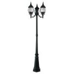 "Frontenac Collection 3-Light 22"" Black Outdoor 3 Head Post with Seeded Glass 7913-04"