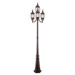 "Frontenac Collection 4-Light 22"" Imperial Bronze Outdoor 4 Head Post with Seeded Glass 7914-58"