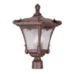 "Millstone Collection 3-Light 11"" Imperial Bronze Outdoor Post Head with Clear Water Glass 7988-58"