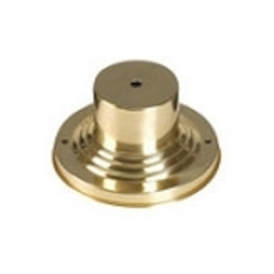 "Polished Brass 6"" Round Outdoor Pier Mount Adapter Base 2001-02"