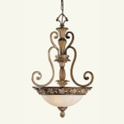 Savannah Collection 3-Light 27.25'' Venetian Patina Pendant 8454-57
