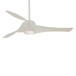 White 3 Blade 58In. Ceiling Fan - Light, Wall Control And Blades Included