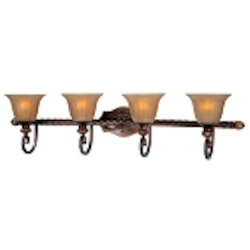 "Dresden Collection 4-Light 41"" Filbert Bath Vanity Fixture with Frosted Ember Glass 22275EMFL"
