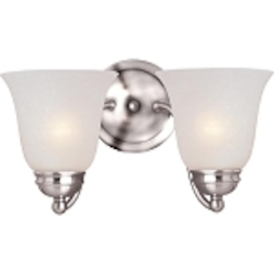 "Basix Collection 2-Light 13"" Polished Chrome Wall Sconce with Ice Glass 2121ICPC"