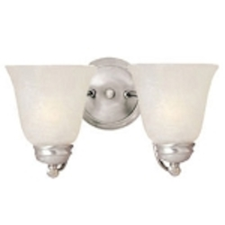 "Basix Collection 2-Light 13"" Satin Nickel Wall Sconce with Ice Glass 2121ICSN"