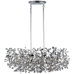 "Comet Collection 7-Light 35"" Polished Chrome Island Pendant with Beveled Crystal 24206BCPC"