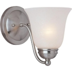 "Basix Collection 1-Light 6"" Satin Nickel Wall Sconce with Ice Glass 2120ICSN"