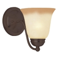 "Basix Collection 1-Light 6"" Oil Rubbed Bronze Wall Sconce with Wilshire Glass 2120WSOI"
