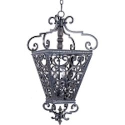 "Southern Collection 4-Light 32"" Kentucky Bronze Foyer Pendant 2937KB"