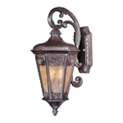 "Lexington Collection 2-Light 21"" Colonial Umber Outdoor Wall Lantern 40173NSCU"