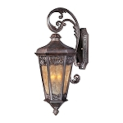 "Lexington Collection 3-Light 28"" Colonial Umber Outdoor Wall Lantern 40174NSCU"