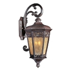 "Lexington Collection 3-Light 30"" Colonial Umber Outdoor Wall Lantern 40175NSCU"